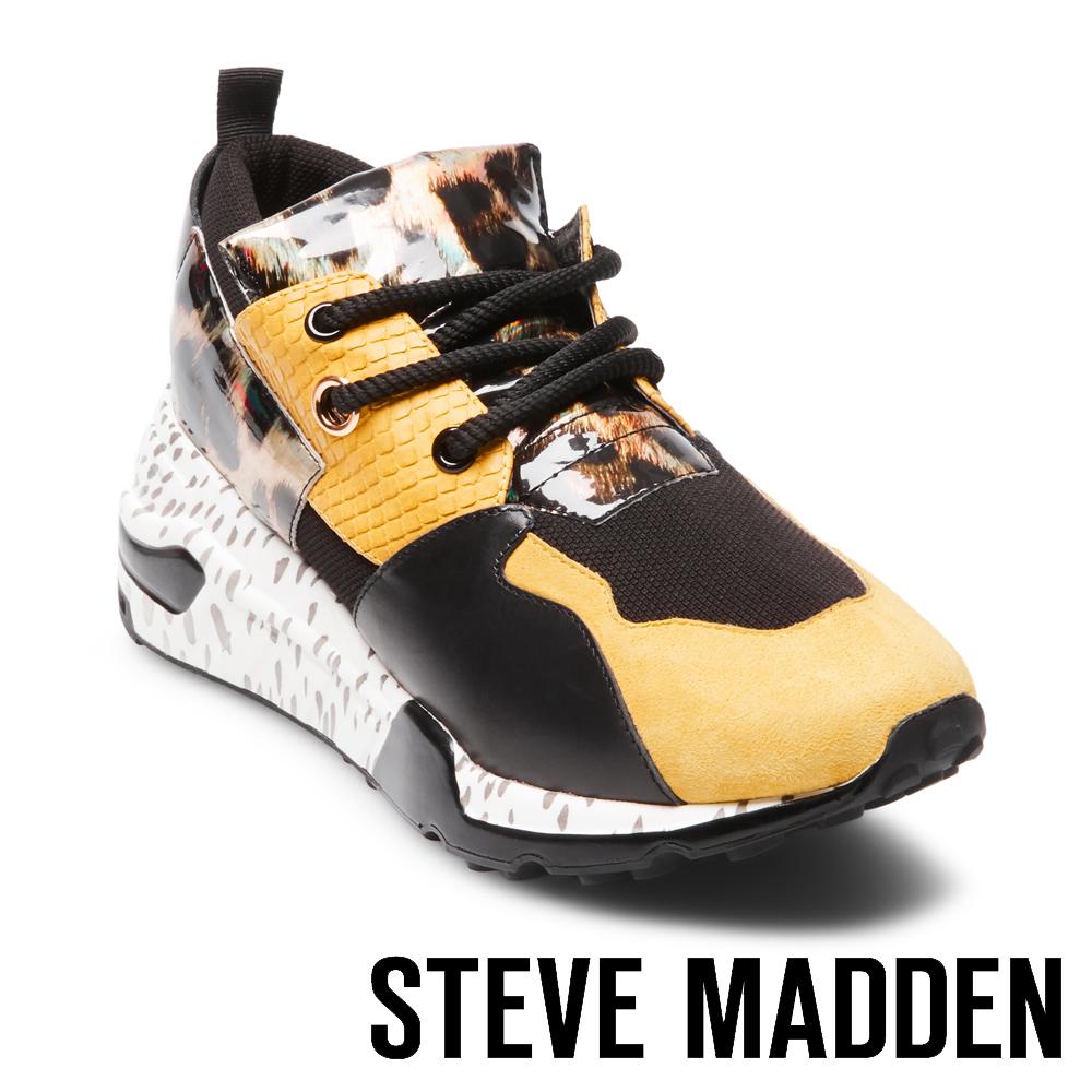 STEVE MADDEN-CLIFF 潮流款拼接時尚老爹鞋-黃色