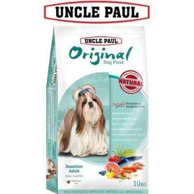 UNCLE PAUL 保羅叔叔田園生機狗食 10kg 低敏成犬 室內 長毛犬