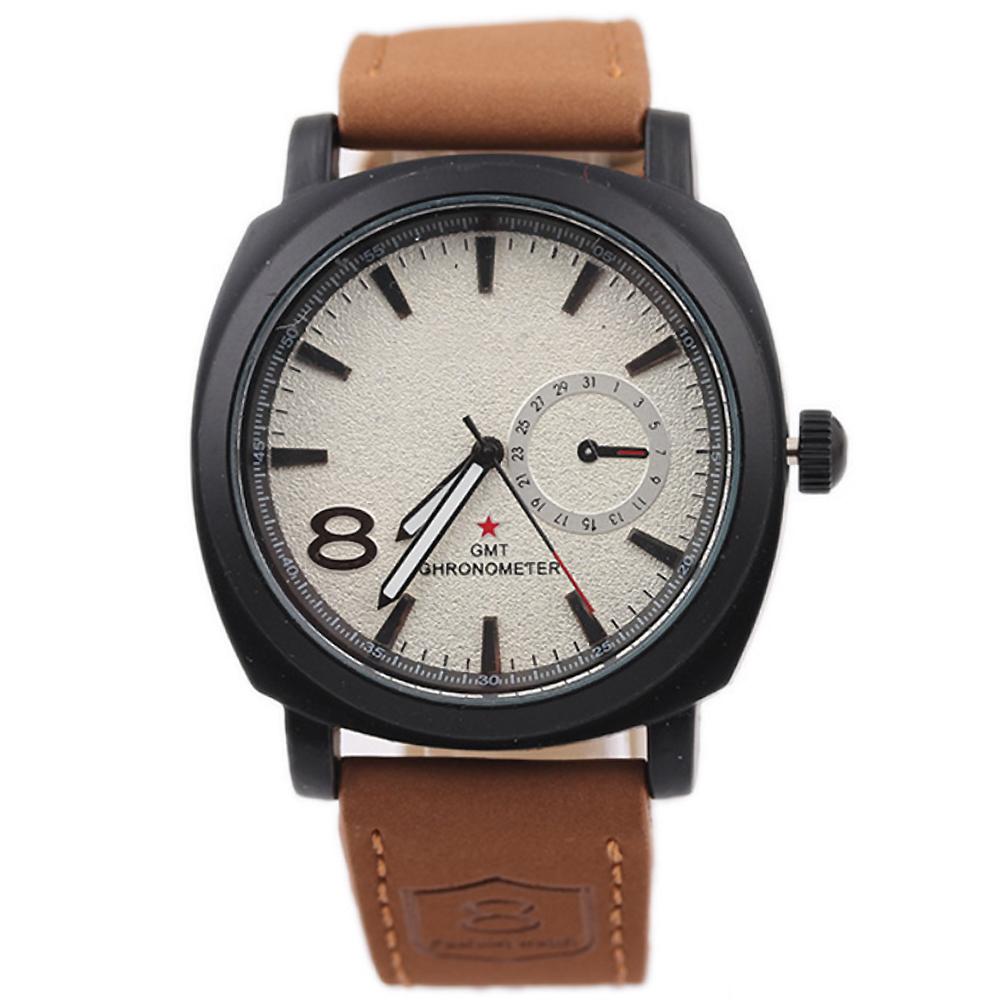 CURREN 卡瑞恩8139-商務時尚仿三眼都會手錶 (2色任選)