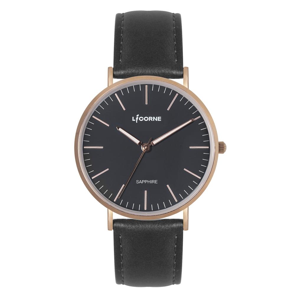 LICORNE 力抗錶 極簡主義紳士手錶-黑/41mm @ Y!購物