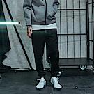 CACO-長拉鍊款縮口褲-情侶款(兩色)-男-【QNC021】