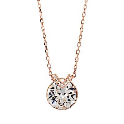 SWAROVSKI 施華洛世奇 BELLA V圓形璀璨水晶水晶玫瑰金色項鍊