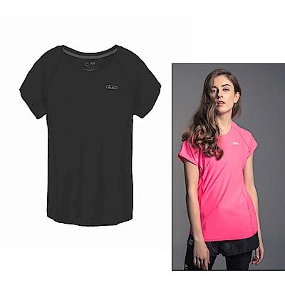 Gfun 女款吸濕排汗涼感T恤-黑色(G7URSL1-black)