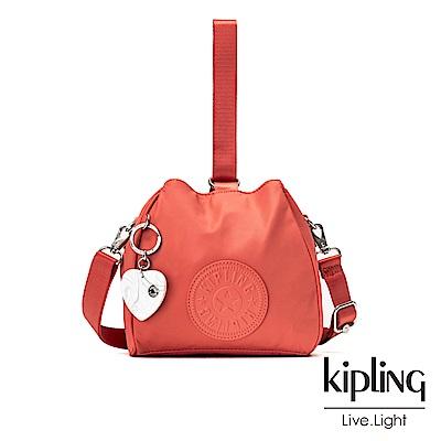 Kipling 亞洲限定款覆盆子紅素面手提側背包-IMMIN