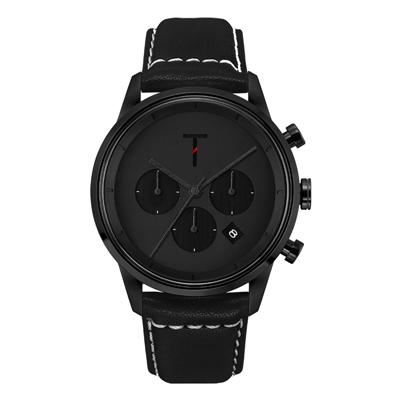 TYLOR急速潮流三眼腕錶-黑(TLAC006)/43mm