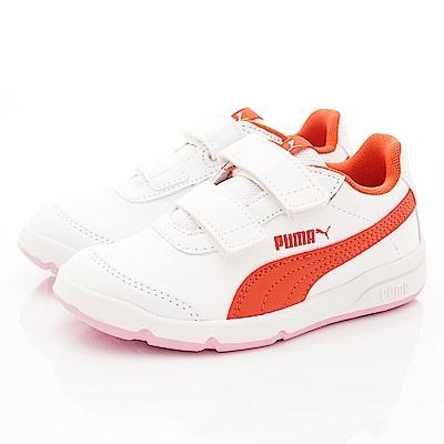 PUMA童鞋 經典雙絆帶休閒款 ON90114-17白橘(中小童段)