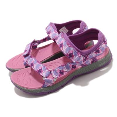 Merrell 涼鞋 Kahuna Web 魔鬼氈 夏日必備 童鞋 避震 耐磨 抓地 透氣 中大童 紫 粉 MK164950