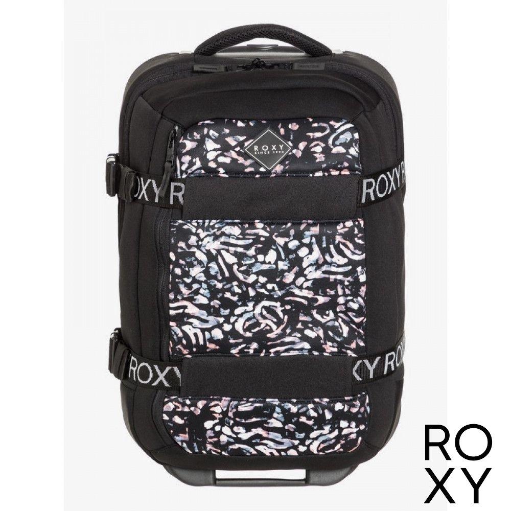 【ROXY】WHEELIE NEOPRENE 登機箱 黑色