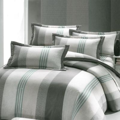 Carolan  簡約生活-灰 台灣製加大五件式純棉床罩組