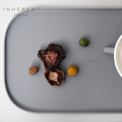 韓國Inherent Oreo 長型寵物餐墊 寵物餐墊 大象灰
