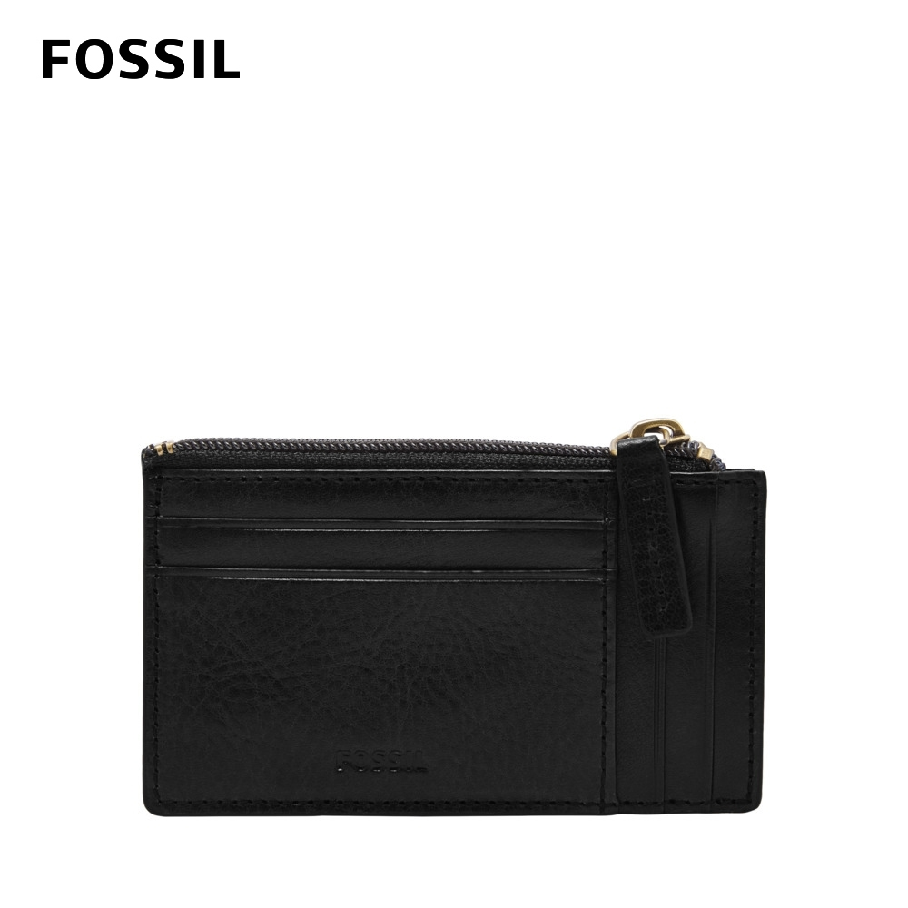 FOSSIL  Caine 真皮拉鍊卡夾-黑色 ML4308001 product image 1