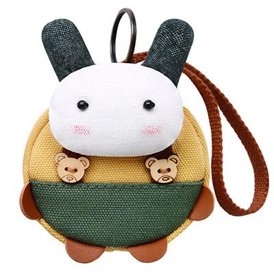 A+ accessories 三色補丁-多喜兔萌物童趣鑰匙零錢多用途小包