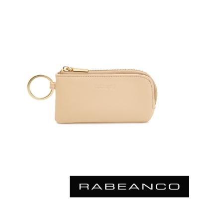RABEANCO 迷時尚系列鑰匙零錢包 米白