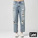 Lee 高腰標準合身小直筒牛仔褲/淺藍色