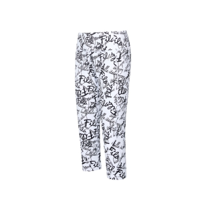 FILA 女針織七分褲-白色 5PNU-5607-WT