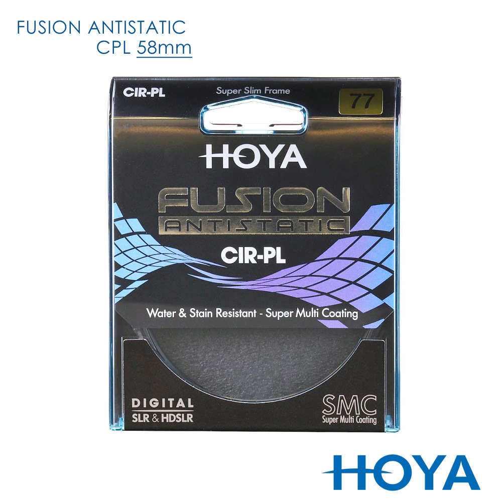 HOYA Fusion 58mm 偏光鏡 Antistatic CPL
