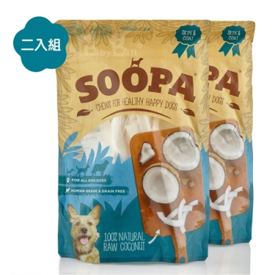 即期良品 Soopa舒趴 生機狗點心 純天然耐嚼系列 椰子乾 100gX2入