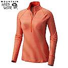 Mountain Hardwear 女款-防曬50快排半開襟長袖上衣橘紅