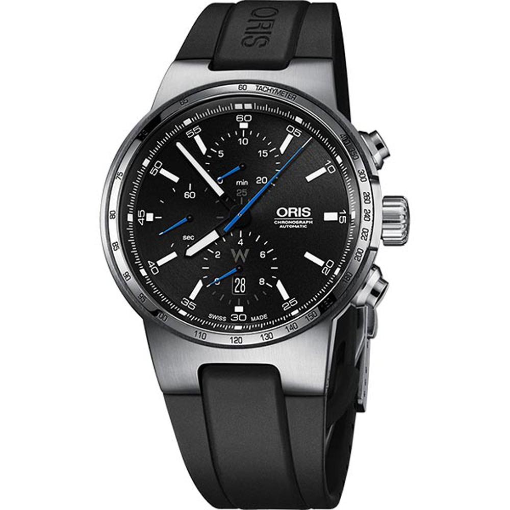 ORIS 豪利時 Willimas F1賽車計時黑橡膠機械錶x44mm