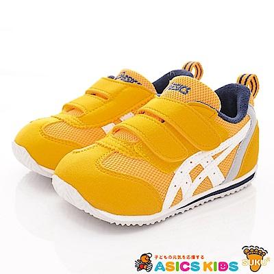亞瑟士SUKU2機能鞋 經典護足款 BON65-800黃(小童段)