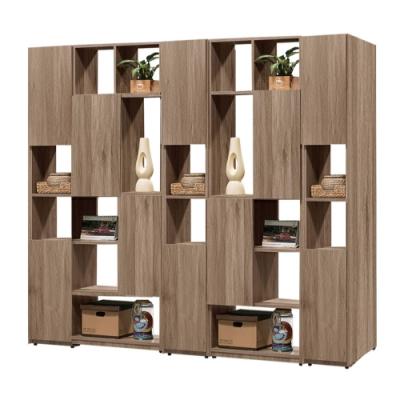 文創集 威爾比7尺多功能雙面櫃/玄關櫃(二色可選)-210x30x180cm免組