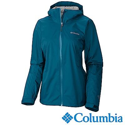 Columbia哥倫比亞 女-Omni-Tech防水快排外套-墨藍URL24370