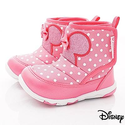 迪士尼童鞋 米妮點點超輕短靴鞋款 ON18848桃(中小童段)