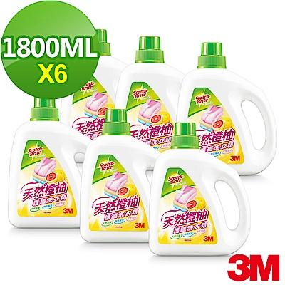 (箱購) 3M 天然橙柚護纖濃縮洗衣精1800mlx6罐