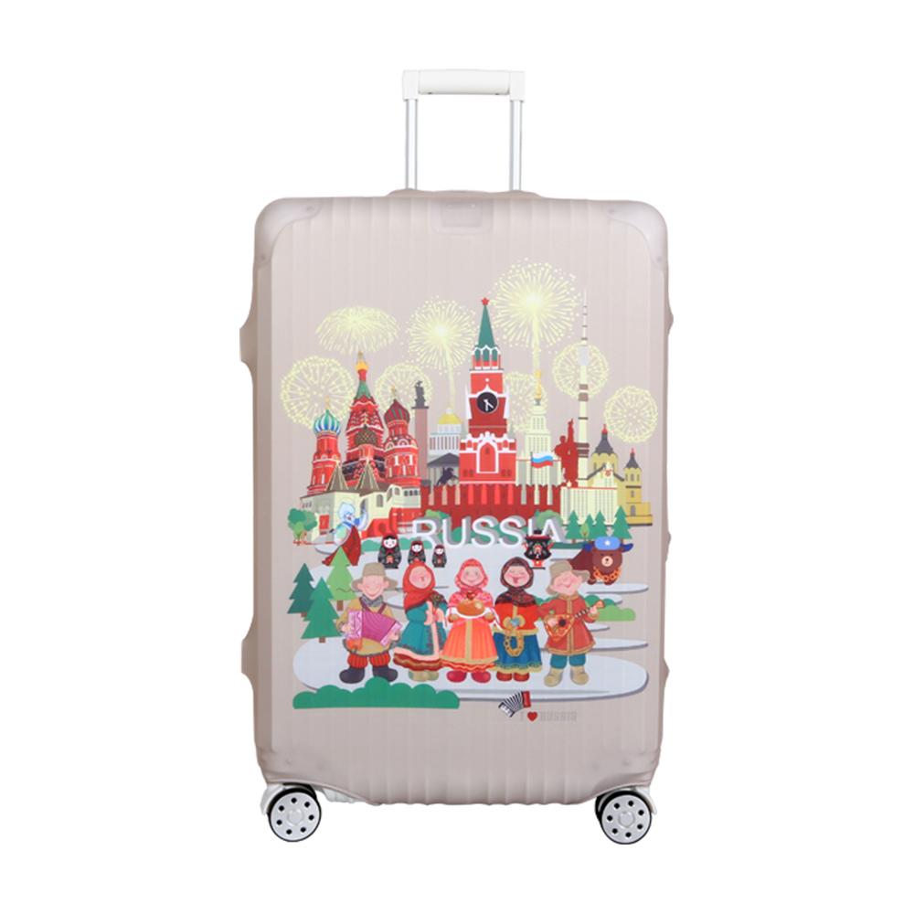 高彈性行李箱套 適用26-29吋-俄國娃娃