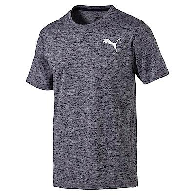 PUMA-男性訓練系列麻花短袖T恤-重深藍(麻花)-歐規
