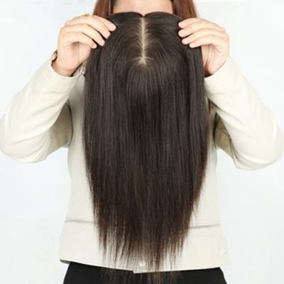米蘭精品 假髮片真髮絲-內網14x14cm直髮30cm女假髮母親節禮物73us33