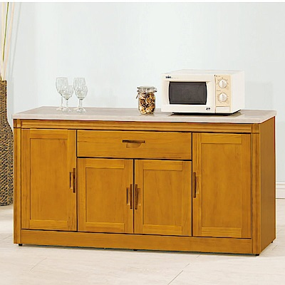 MUNA 潘朵拉香檜<b>5</b>.4尺石面餐櫃(下座)  164.2X43X80cm