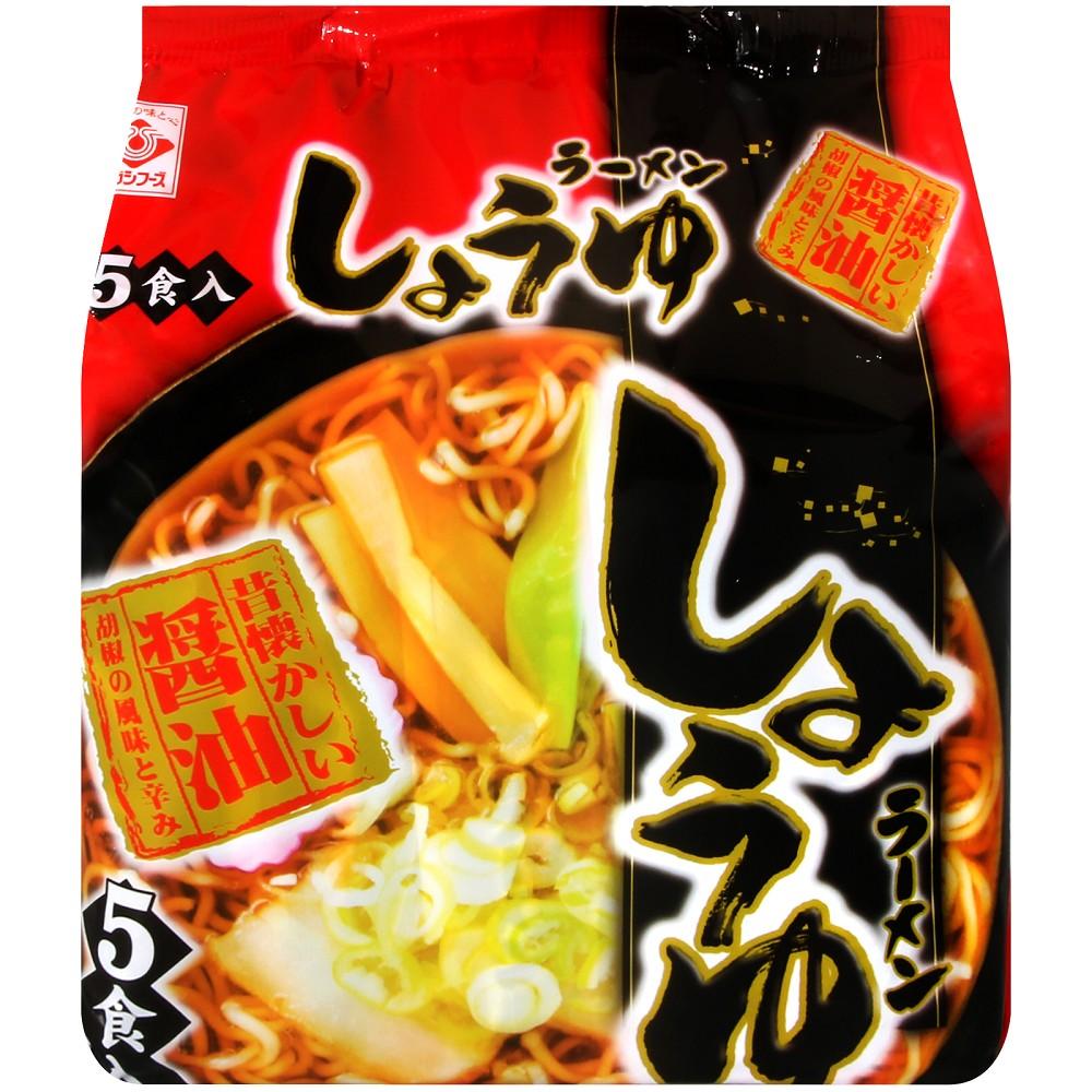 Higashimaru 丸東5入包麵-醬油風味(381.5g)