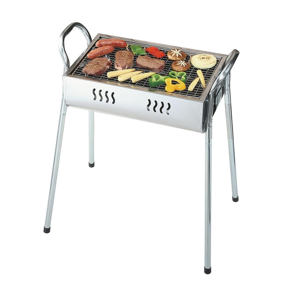 【時時樂限定】妙管家 歡樂不鏽鋼高腳烤肉爐HKR-300 贈1.2kg椰炭2入
