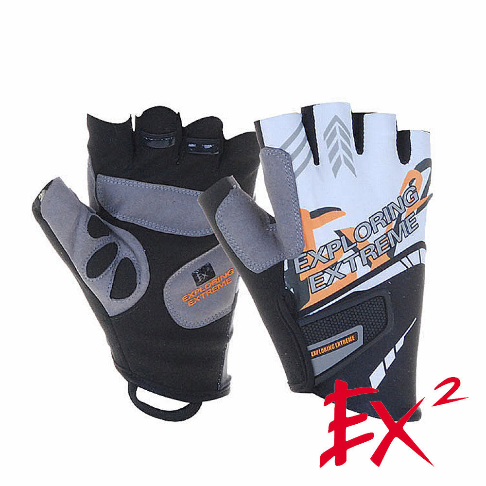 EX2 半指單車手套(白)