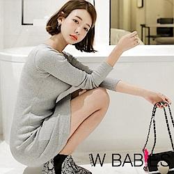 正韓 優雅彈性長袖針織連身洋裝 (共三色)-W BABIES