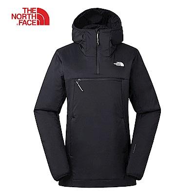 The North Face北面男女款黑色舒適保暖防水上衣 3LUJJK3