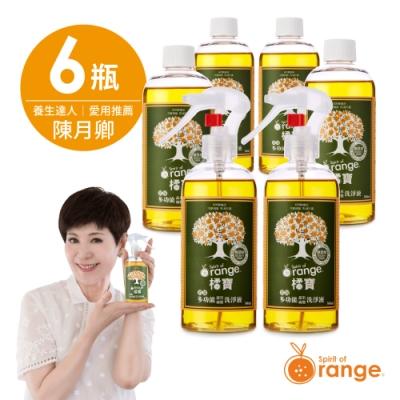 (主推橘寶) 橘寶濃縮多功能疏果碗盤洗淨液-6瓶