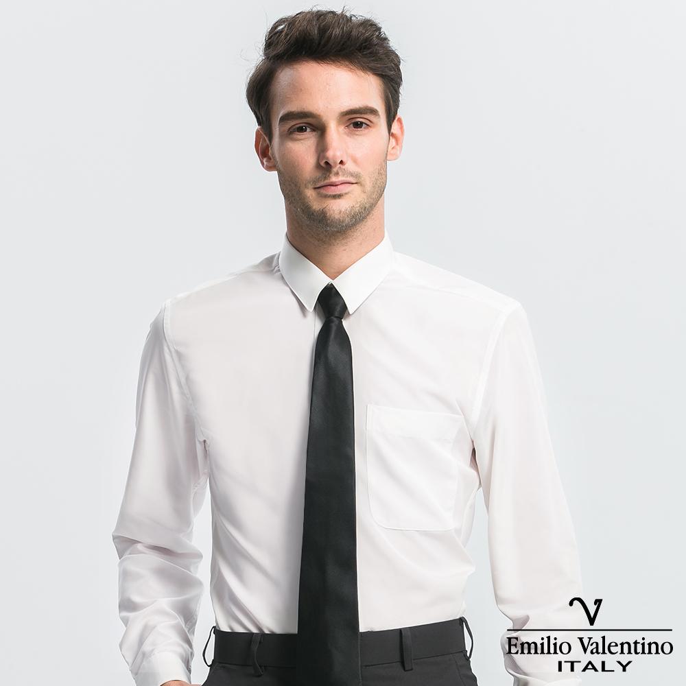 Emilio Valentino 范倫提諾修身長袖襯衫-白
