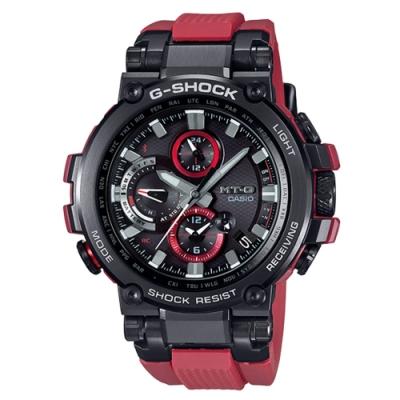 CASIO 卡西歐  G-SHOCK太陽能電波手錶MTG-B1000B-1A4-黑紅/55.8mm