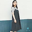 earth music 【SET ITEM】點點/素面吊帶洋裝+短袖羅紋上衣