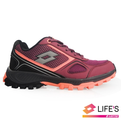 LOTTO 義大利 女 CROSS RUN 越野跑鞋 (酒紅)