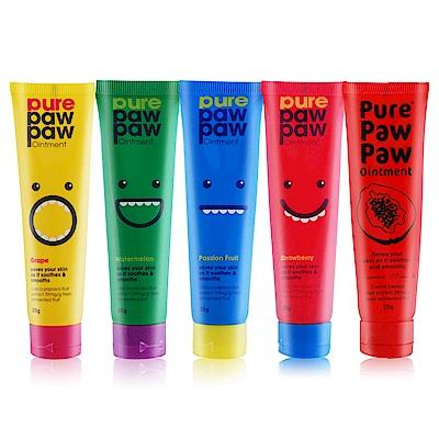 澳洲正統 Pure Paw Paw 神奇萬用木瓜霜-彩虹五件組25gX5