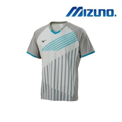 Mizuno 美津濃 男桌球短袖T恤 淺灰X灰 82TA900103