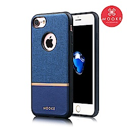 Mooke iPhone 7 /8  尊爵Nappa保護殼-寶石藍