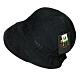 DAKS 反摺格紋LOGO刺繡抗UV纖維造型帽(黑/內卡其格邊) product thumbnail 1