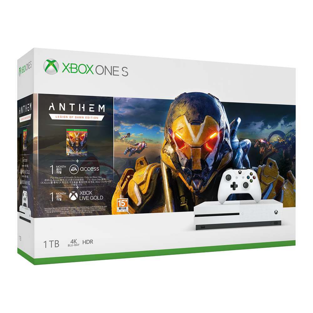 Xbox One S 1TB 《冒險聖歌》Anthem同捆組
