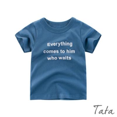 兒童 字母印花T恤上衣 TATA KIDS