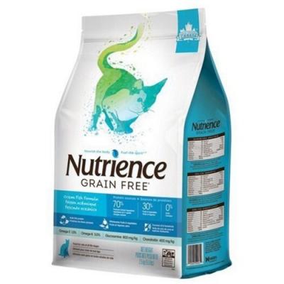 加拿大Nutrience紐崔斯GRAIN FREE無穀養生貓-六種魚(深海鱈魚&漢方草本) 5kg(11lbs) (NT-F2562)