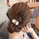 Hera 赫拉 時尚金屬光面C型髮圈-2色